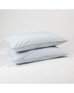 The blue stripe pillow cases
