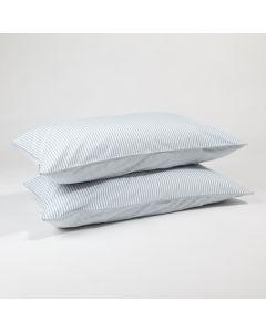 The blue stripe pillow cases