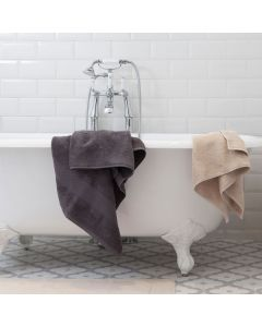 Light grey bath towel