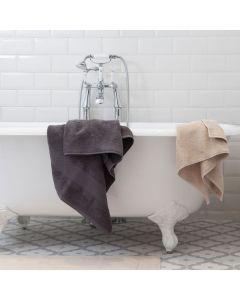 Light grey bath towel
