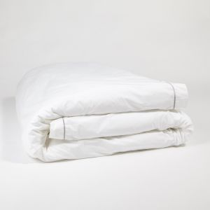 The simple embroidered duvet cover