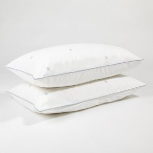 Blue star pillow case pair