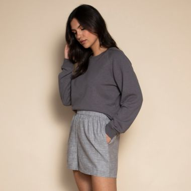 the perfect cropped sweatshirt