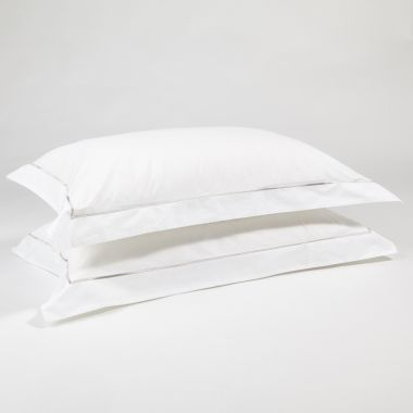 The simple embroidered pillow cases