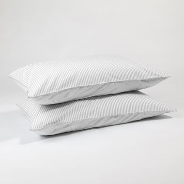 The grey stripe pillow cases